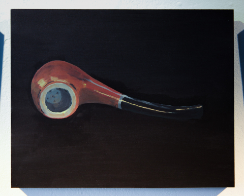 Ceci n'est pas une pipe. Acrylic on panel © Jonathan Brennan, 2019