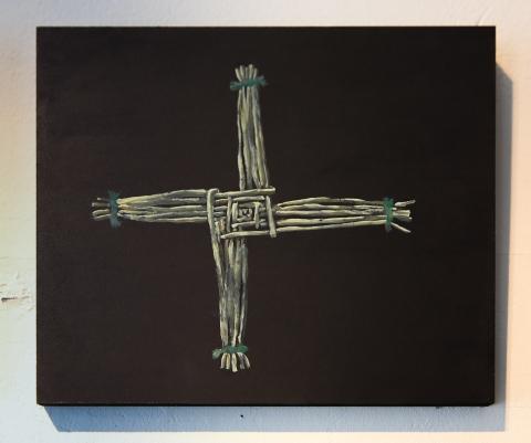 St Brigid's Cross, Ashton Avenue. Acrylic on panel © Jonathan Brennan, 2019