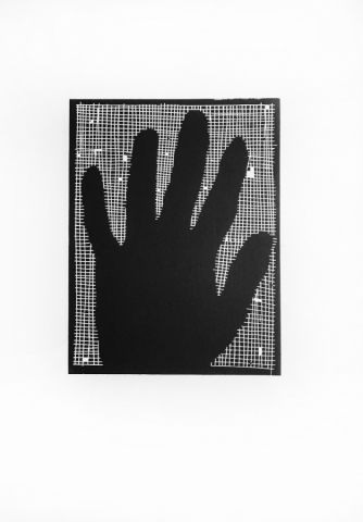 The Boy in the Bag - linocut print on Zerkall paper © Jonathan Brennan, 2017
