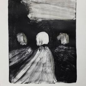 North Road Bridge - monotype on Zerkall paper © Jonathan Brennan, 2017