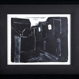 Belfast Alley (Evening) - monotype on Zerkall paper © Jonathan Brennan. 2017