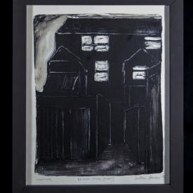 Belfast Alley (Night) - monotype on Zerkall paper © Jonathan Brennan, 2017