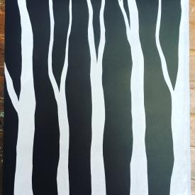Dark Hedges - screenprint on Revere Magnani © Jonathan Brennan, 2018