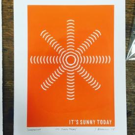 It's Sunny Today - Screenprint © Jonathan Brennan, 2018