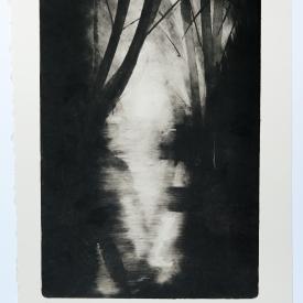 Knock River. Monotype on Fabriano Rosaspina © Jonathan Brennan