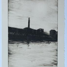 Sirocco Quays. Monotype on Fabriano Rosaspina © Jonathan Brennan
