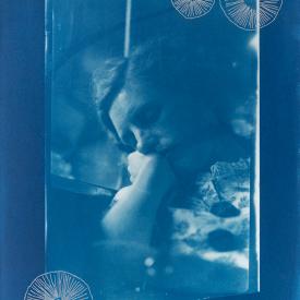 Sleeping woman with trochocyathus. 1/4 V.E. Cyanotype and silkscreen on Fabriano © Jonathan Brennan, 2020