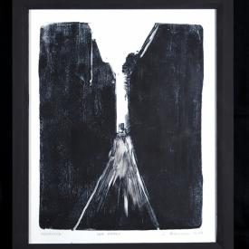 Wee Entry - linocut on Zerkall paper © Jonathan Brennan, 2018
