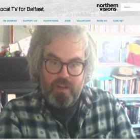 NVTV screenshot showing artist Jonathan Brennan